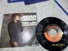Jullian Lennon Too Late For Goodbyes/ Let Me Be 45 Picture Sleeve