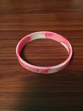 1 Pink BREAST CANCER CAMOUFLAGE Awareness Silicone ADULT Bracelet Wristband CAMO