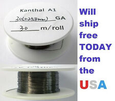 Kanthal 30 AWG 0.254mm A-1 Wire 100ft Roll (30 meters) 8.36 Ohms/ft Resistance