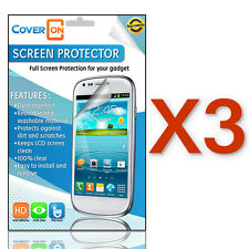3 Clear Screen Protectors for Alcatel One Touch Conquest - Phone LCD Cover Guard