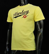 Hurley Surfing Classic Script Yellow Color Mens T shirt Size Small HRL-67