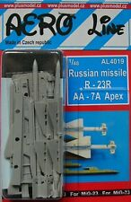 Plus model aero line 4019 1/48 russian missile R-23R AA-7A apex (2 pcs.)
