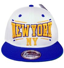 KB Ethos Mens Boys New York NY Snapback Caps Baseball Hip Hop Truckers WhiteBlue