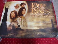 LORD OF THE RINGS - THE TWO TOWERS   FILM POSTER  102 x 77 cms