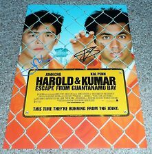 """HAROLD AND KUMAR :  ESCAPE FROM GUANTANAMO BAY PP SIGNED POSTER 12""""X8"""" KAL PENN"""