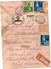 Germany Third Reich occ'n Poland 1941censored cover - GeneralGouvernement to USA