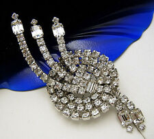 Fabulous Vintage Rhinestone Brooch Sparkly Large Atomic Spray