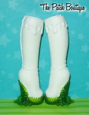 MONSTER HIGH SCARAH SCREAMS SCARNIVAL DOLL REPLACEMENT TALL WHITE BOOTS SHOES