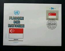 United Nation Flag Singapore 1981 (stamp FDC)