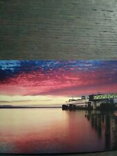 EDMONDS FERRY DOCK @ SUNSET BEAUTIFUL PHOTO POST CARD EDMONDS WASHINGTON