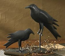 "Primitive Country Rustic Hand Forged Black Iron Decorative Farmhouse 6 1/2"" Crow"