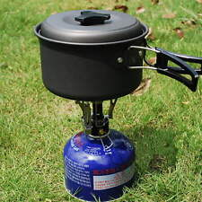 Ultralight Mini Backpacking Canister Camp Camping Stove Burner Piezo Ignition SE