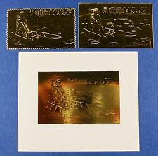 RAS AL-KHAIMA 1970 Raumfahrt Space Apollo Gold A398 A/B + Block A92 MNH