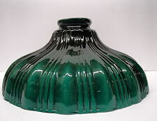 "GREEN RIB FIXTURE LAMP SHADE CASED GLASS 2 1/4"" X 9""  FLOOR CEILING LAMP"