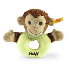 STEIFF Jocko Monkey Grip toy baby Green brown plush gift 13cm EAN 240171 New