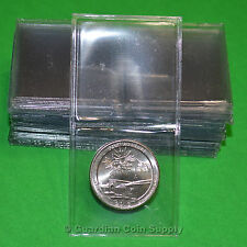 50- SUPERSAFE 1.5 x 1.5 DOUBLE POCKET COIN FLIPS -  PVC FREE - ARCHIVAL QUALITY