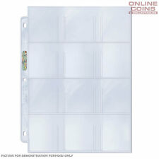Ultra Pro Platinum 12 Pocket Pages for Stickers Cards Tags x 10