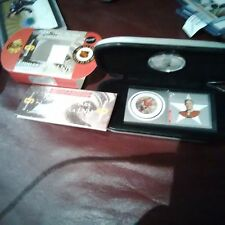 BOBBY HULL 2001 CANADA POST STAMP COIN/MEDALLION SET MINT+CASE CHICAGO BLACKHAWK