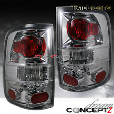 2004-2008 FORD F-150 TRUCK CLEAR LENS CHROME HOUSING TAIL LIGHTS LAMPS NEW PAIR