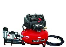 Porter-Cable Finish &  Brad Nailer nail gun air compressor PCFP12656 + hose