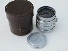 "Leica SM LTM screw mount 50mm f:1.5 Summarit lens with caps/case ""LQQK"""