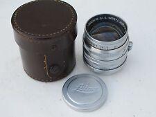 """Leica SM LTM screw mount 50mm f:1.5 Summarit lens with caps/case """"LQQK"""""""