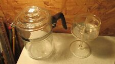 Pyrex Flamesware Glass Coffee Pot 6 cup Tall