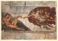 BR6000 La Creazione dell uomo michelangelo Pianting postcard srt