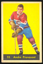 1960 61 PARKHURST HOCKEY #55 ANDRE PRONOVOST VG-EX MONTREAL CANADIENS CARD
