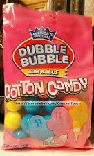 DUBBLE BUBBLE 4 oz Bag COTTON CANDY Flavored Bubble GUM BALLS Cherry+Lemon 6/17+