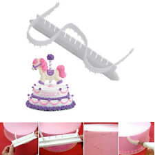2Pc Fondant Cake Edge Lace Frill Cutter Mold DIY Decorating Cake Arc-shaped Tool