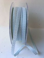 "1/4"" Twill/Chevron Stripes Ribbon - May Arts -382-14-34 - Lt. Blue - 50 yds"