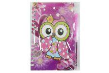 Wise Owl con penna a spirale vincolati piccolo notebook Set-Rosa