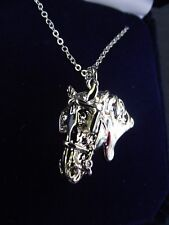 Driving HORSE JEWELRY Harness  Platinum Plated necklace