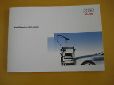 AUDI SERVICE BOOK NEW ALL MODELS PETROL AND DIESEL A1 A2 A3 A4 A5 A6 A8 S2 S3''