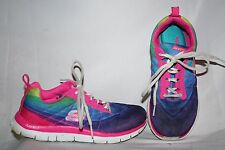Skech-Knit by Skechers Women's Sneakers Size 5.5 Blue Pink White Tennis Shoes