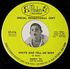 Northern Soul 45~SONNY TIL~Don't Tell Her / Write and Tell Me Why~Charlie Parker
