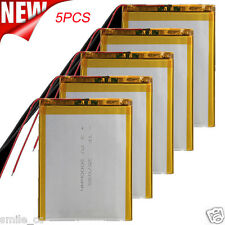 5PCS 3.7V 3000mAh Li-Polymer Battery PCM Rechargeable For Tablet PC U25GT 357095