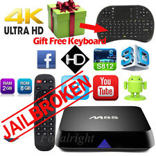 4K M8S Android 4.4 Smart TV Box S812 Quad Core Free Movie+ Keyboard HDMI