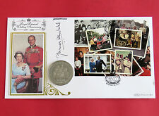 ISLE OF MAN 2007 DIAMOND WEDDING ANNIV PROOFLIKE CROWN - SIGNED BENHAM COVER