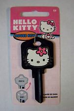 HELLO KITTY Black Kwikset House Key Blank