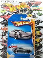 Hot Wheels 2010 #021 '09 Corvette® Stingray® Concept GREY,1ST COLOR,NEW CASTING