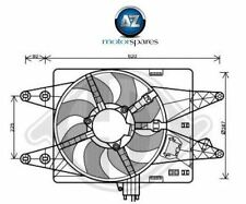 FOR FIAT DOBLO 1.3D 1.9D  MULTIJET 2005-  NEW RADIATOR COOLING FAN