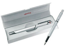 ROTRING  600 NEWTON CHROME FOUNTAIN PEN MEDIUM  POINT  NEW IN BOX