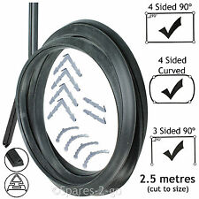 2.5m Door Seal for Diplomat Hygena Schreiber 3 or 4 Sided Oven Cooker + Clips