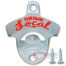 DRINK LOCAL Bottle Opener Starr X Wall Mounted Cast Iron Zinc Plated with SCREWS