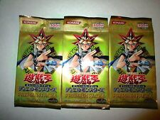 YU-GI-OH JAPANESE PREMIUM #6 BOOSTER (3-PACK LOT) KONAMI JAPAN