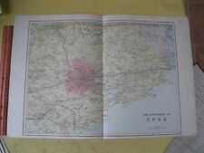 Vintage Print,ENVIRONS OF CORK,Atlas British Isles,1881,Bacon