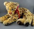 Steiff Ocelot Lying Mohair Plush 28 cm ID 1964 -67 Glass Eyes Vintage Leopard