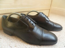 Moreschi cap toe derby tailles uk 7 41 hommes noir cuir complet lacets made in italy